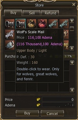 wolves., lineage 2 jewelry, l2 drop bews