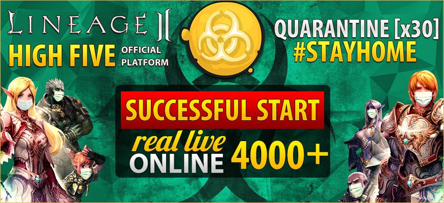 All on QUARANTINE! 4.000+ online, lineage 2 neolithic crystal s, l2 high five map