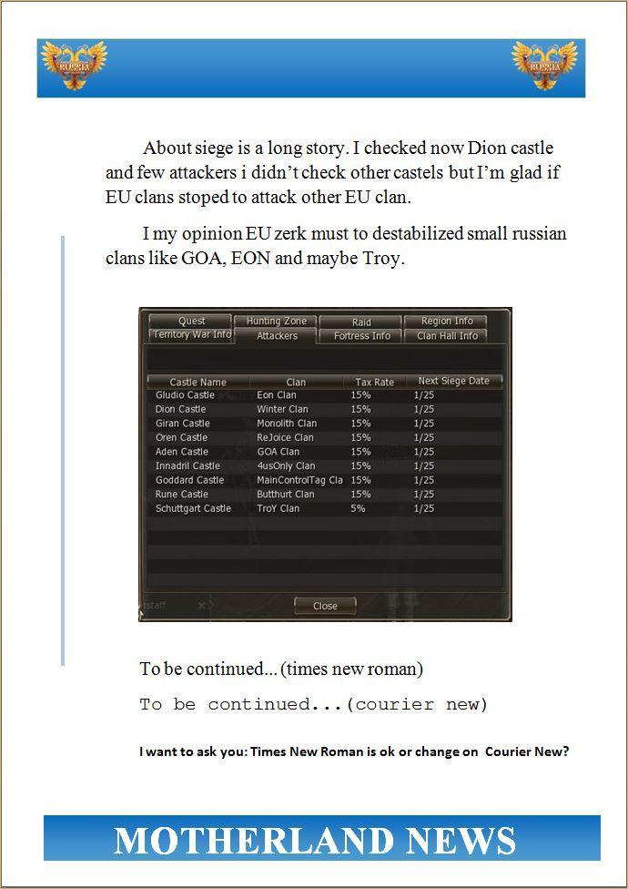 Motherland NEWS no.4, lineage2 java server, lineage sites
